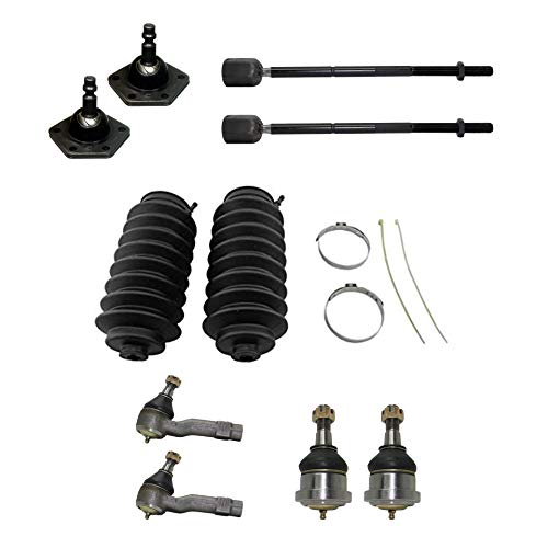 Detroit Axle - 10PC Front Inner Outer Tie Rods w/Rack covid 19 (Ford Aerostar Ball Joint coronavirus)