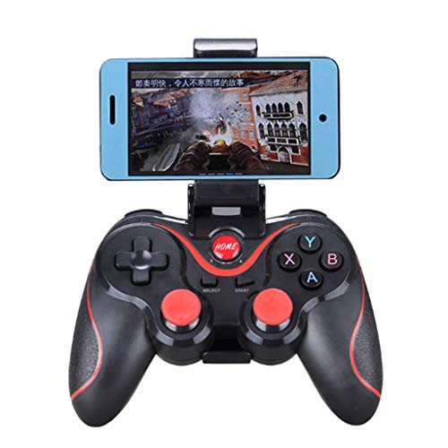 Mobile Game Controller,JDgoods Wireless Gamepad Bluetooth Multimedia Game Controller Joystick With Stand For Android TV Box Tablet PC With Stand (Black)