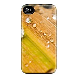 Hot Style KAHFacc8317xAPlP Protective Case Cover For Iphone4/4s(leaf)