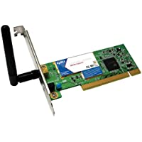 ZyXEL G302 802.11g Wireless PCI Adapter with removable antenna, WPA2 support, and small bracket for micro PCs