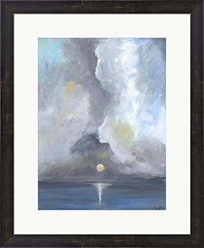 - Moonlight I by Molly Susan Strong Framed Art Print Wall Picture, Espresso Brown Frame, 19 x 23 inches