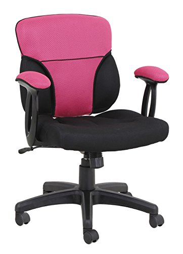 Kathy Ireland Upholstered Chair (Kathy Ireland ki9240M-B-2 the Apex Sandwich Mesh Mid-Back Task Chair, Pink)
