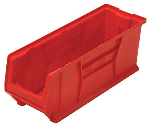(Quantum QUS951 Plastic Storage Stacking Hulk Container, 24-Inch by 8-Inch by 9-Inch, Red, Case of 6)
