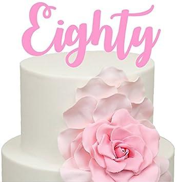 Amazon De 80 Nr Geburtstag Jahrestag Kuchen Dekoration Topper