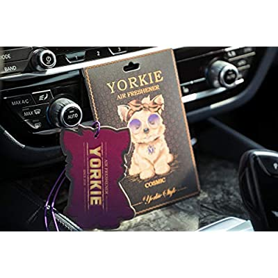 Rontal, Yorkie Cosmic Car Air Freshener; Long Lasting Perfume Air Fresheners for Cars-Home-Office; Hanging Car Freshener/Car Accessories for Women and Men: Automotive