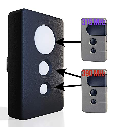 Garage Door Opener Remote 2 Frequency Replacement for Liftmaster 370LM 371LM 970LM 971LM 972LM Transmitter Control 315mhz 390mhz Sears Craftsman 139.53985D 139.53681b Purple Red Orange Learn Button