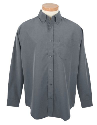 Tri-mountain Mens rayon/poly long sleeve shirt with mini-houndstooth pattern. - PACIFIC BLUE - Medium - Houndstooth Woven Shirt