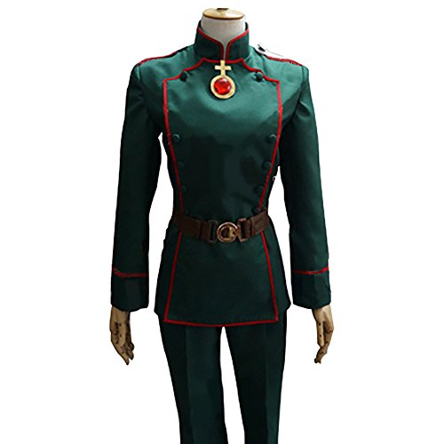 Tanya Degurechaff Costume Deluxe Army Green Uniform Cloth Suit CL Custom (Deluxe Green Army Man Costumes)