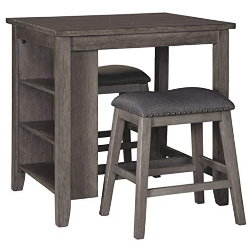 Signature Design By Ashley Caitbrook Dining Table Set Counter Height 3 Piece Set Gray