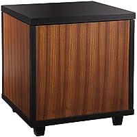 Southern Enterprises, Inc. AMZ2540KC Trunk , End Table, Zebrawood W/ Black