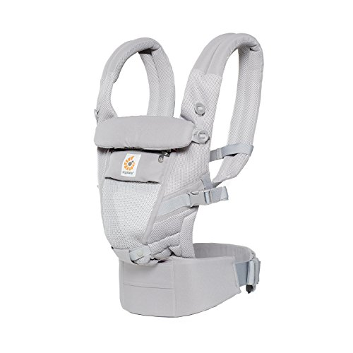 Ergobaby Adapt Cool Air Mesh Breathable Ergonomic Multi-Position Baby Carrier, Newborn To Toddler, Pearl - Carrier Infant Baby Beco Insert