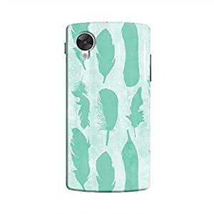 Cover it up - Blue Feather Print Nexus 5 Hard Case