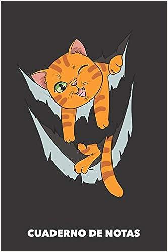Cuaderno de Notas: Miau dentro A5 rayadas - 120 páginas ...