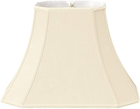 Royal Designs Rectangle Bell w Cut Corners Designer Lamp Shade, Beige, 7 x 9 x 12 x 18 13