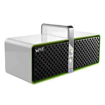 Image of Hercules Wireless Bluetooth Speaker (White/Green) Audio Docks