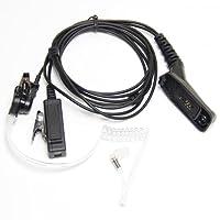 Tubo acústico Auricular Auricular Micrófono para Motorola XPR6500 XPR6550 XPR6580 APX7000 APX6000 Radio Seguridad Puerta Supervisor