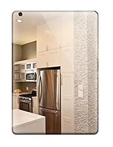 Defender Case With Nice Appearance (modern White Kitchen And Split-face Marble Tile Walls) For Ipad Air