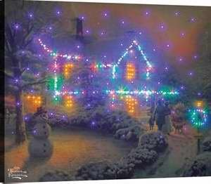 Manual Woodworkers & Weavers 93308 Canvas Heart Of Christmas Fiber Optic With Remote - 20 x 16 - August