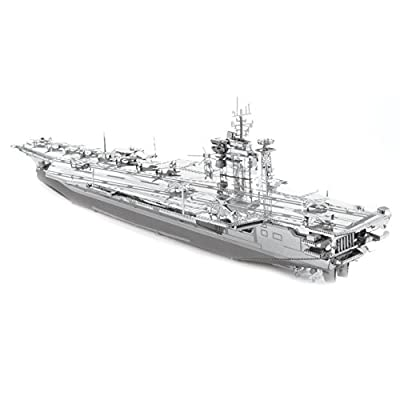 Fascinations ICONX USS Roosevelt CVN-71 Aircraft Carrier 3D Metal Model Kit