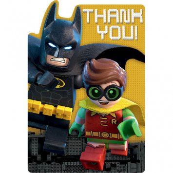 American Greetings Boy's Lego Batman Thank You Cards (8 Count)