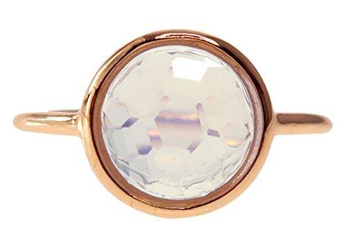 Moonstone 18k Rose Gold Clad Wholesale Gemstone Round Ring (8)