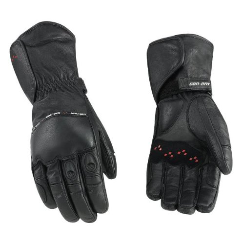 can-am-spyder-motorcycle-oem-leather-riding-gloves-black-long-xl-extra-large-4461771290