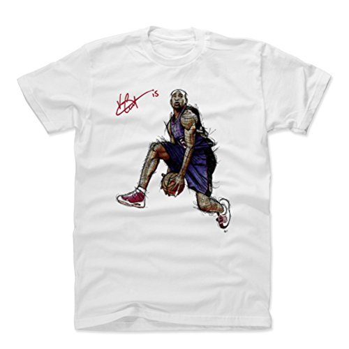 Carter Basketball Vince (500 LEVEL Vince Carter Cotton Shirt (Medium, White) - Toronto Raptors Men's Apparel - Vince Carter It's Over Signature P)