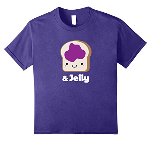 Peanut Butter And Jam Sandwich Costume (Kids MATCHING SET Peanut Butter and Jelly Couples Friend Shirt 8 Purple)