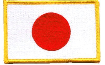 Japan iron-on embroidered patch