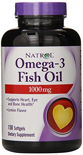 Natrol Omega-3 1,000mg Fish Oil Softgels, 150 Count (Pack of 3)