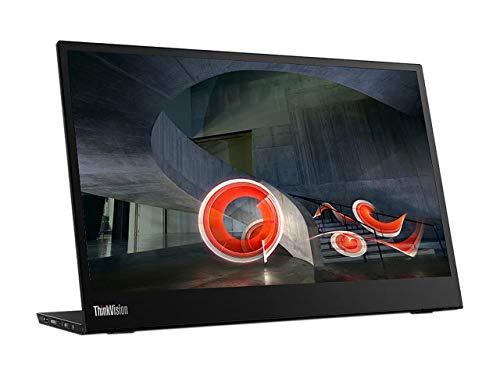 Lenovo ThinkVision M14 14″ Full HD 1920×1080 IPS Monitor – 300 Nit 6ms 2xUSB Type-C Ports Widescreen Backlit LED LCD Mobile Portable Display Raven Black