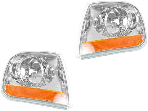 Ford F-150 01 02 03 Lightning Type Corner Signal Light Pair 1L3Z 13200 13201 Ba Auto Parts Avenue
