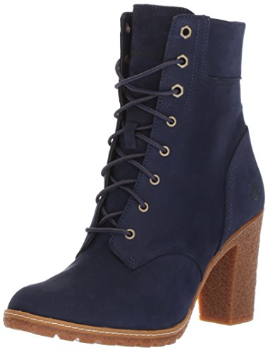 Timberland Women's Glancy 6 Ankle Bootie, Dark Blue, 8 M US (Dark Blue Leather Boots For Women)