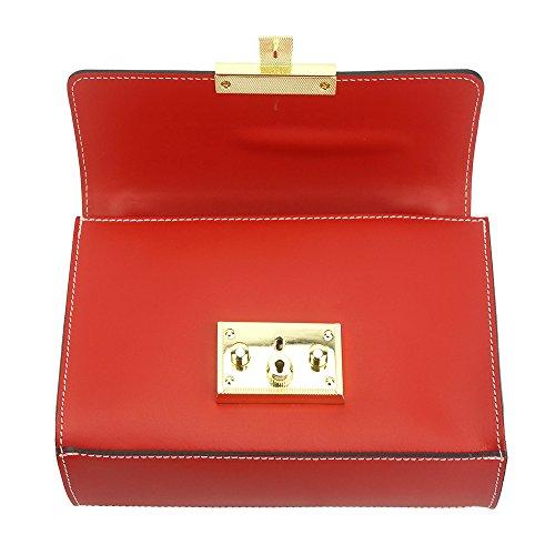 Avec Victoire Sac Ajustable Clair Market Leather Chaîne Bandoulière À Rouge Florence xwFqpXYZY