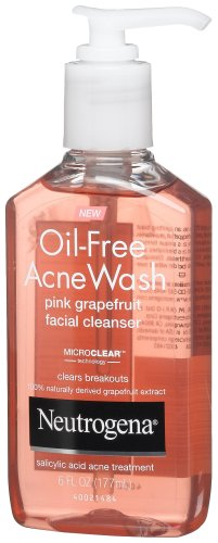 Neutrogena Oil-Free Acne Wash Facial Cleanser, Pink Grapefru