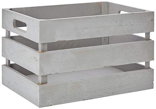 Zeller 15132 Caja de Almacenamiento, Madera, Blanco, 39x29x21 cm: Amazon.es: Hogar