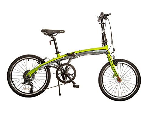 Bike USA Ubike Citadel 9-Speed Folding Bicycle with 20'' Wheel, 10''/One Size by Bike USA