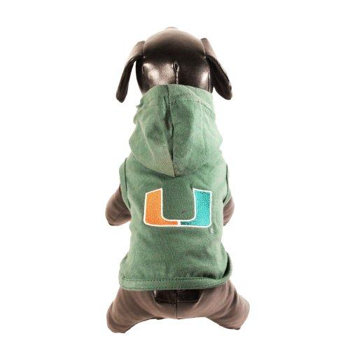 XX-Small NCAA Miami Hurricanes Cotton Lycra Dog Tank Top
