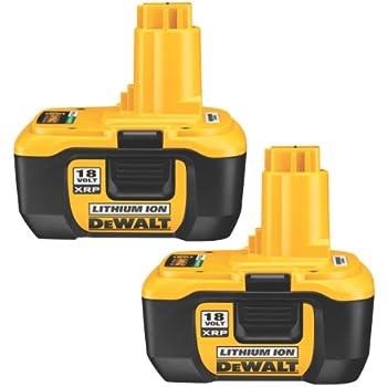 Dewalt Dc9180 2 18 Volt Xrp Lithium Ion Batteries 2 Pack