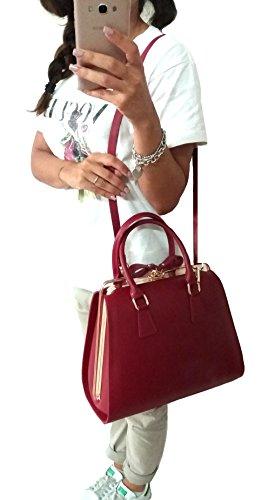 Contessa dal pozzo Candy, sac à main femme, Rosso, 20x20x13 cm (L x H L)