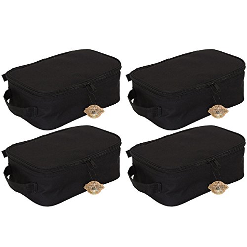 Household Essentials Grooming Toiletry Travel Bag Organizer for Men and Women, Black, 4 Pack by Household Essentials