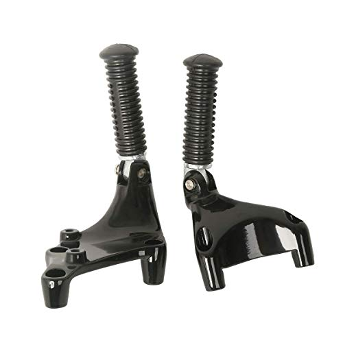 TCMT Rear Passenger FootPegs Mount Kit Black Fits For Harley XL Sportster 883 1200 2014-2019