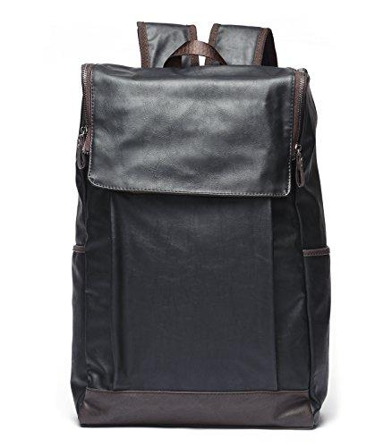 Mlife Mens Fashion Travel Laptop Backpacks School Bookbags (Black)