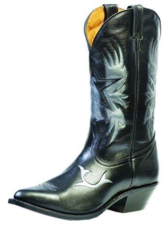 Bottes américaines - santiags: bottes country BO-9504-50-EE (pied enrobé) - Homme - Noir