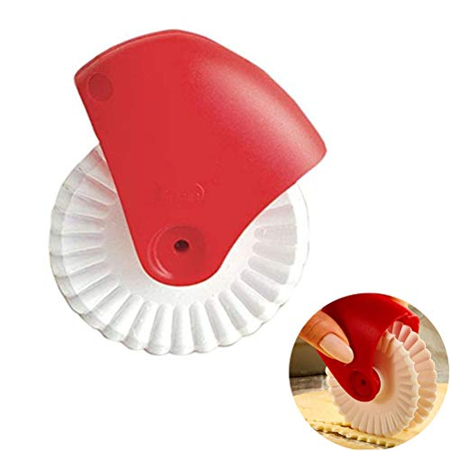 Ture Laugh Pastry Wheel Decorator and Cutter, Beautiful Pie Crust, Easy to Use, Easy to Clean … (B) ()