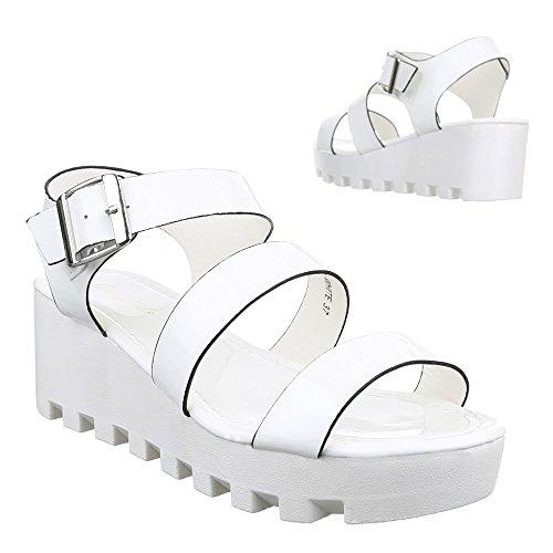 Ital-Design - Sandalias Romanas Mujer blanco
