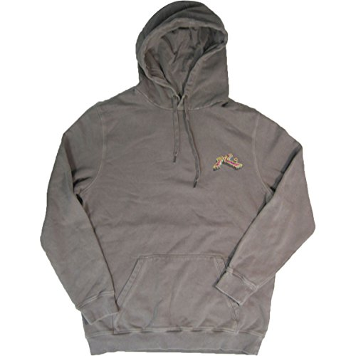 Rusty Men's Original Logo Fleece Hoodie Traditional Fit Sweatshirt, Bedrock Stone Grey, (Washed Logo Mens Hoodie)