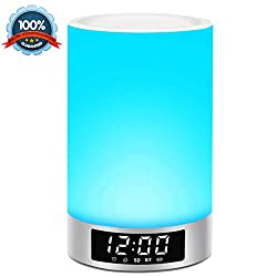 5-in-1 Home Camping Speaker Night Light Gadget - Exqline Portable Wireless Bluetooth Speaker, Programmable Alarm Clock, Dynamic Color Lamp, Excellent Sound, 4000mAh Super Battery