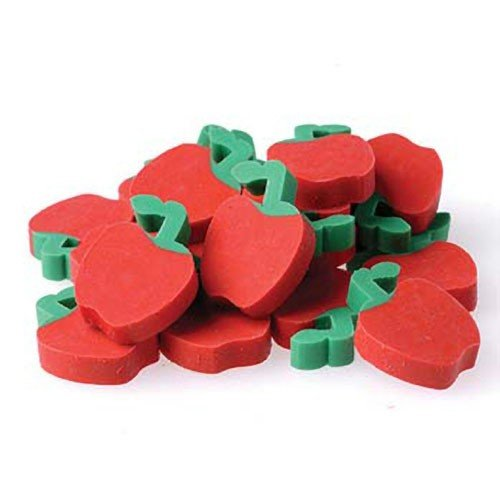US Toy - Miniature 3/4'' Apple Erasers, Ages 3 Years & Up (1-Pack of 144)