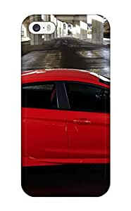 For Iphone 5/5s Premium Tpu Case Cover Ford Fiesta Red Parking Lot Protective Case